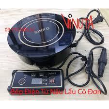 Bếp từ lẩu cô đơn 800W, Bếp điện từ lẩu âm bàn Sinpo 800W đơn hình tròn đặt âm  bàn giá cạnh tranh