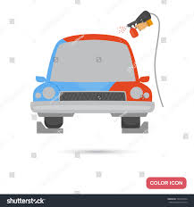 car painting service color flat icon