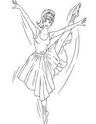 Kleurennu Barbie Ballet Sierlijk Kleurplaten