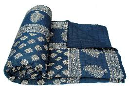 Amazon.com: Exclusive Indian Jaipuri Quilt With Authentic ... & Amazon.com: Exclusive Indian Jaipuri Quilt With Authentic Sanganeri Print Cotton  Filling & Double Bed Size: Home & Kitchen Adamdwight.com