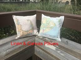 Nautical Chart Pillows Custom Nautical Chart Pillow
