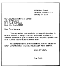 Personal Business Letter Block Style Blocked Letter Style Personal Business Format Block Sample Social