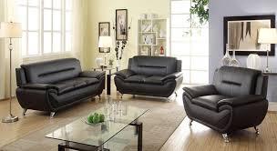 modern living room furniture black. three piece living room set copy norton 3 pc black faux leather modern sofa furniture