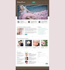 Wedding Planner Responsive Website Template 37765