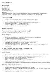 Nursing Resume Objectives Nursing Resume Skills Sample New Nurse