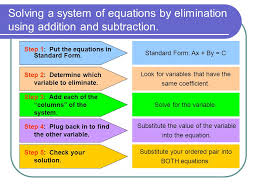 solving a system of equations by elimination using addition and subtraction