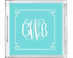 monogrammed lucite tray personalized acrylic tray home decor serving tray personalized gift acrylic tray insert initial tray
