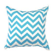blue pillow cover blue zigzag pillow blue chevron