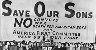 """Image result for who said """"America, first!"""" first?"""