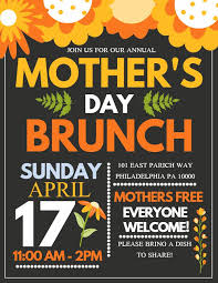 Flyer Design Free Mothers Day Lunch Flyer Design Click To Customize Mothers Day