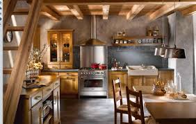 Rustic Kitchen Kitchen Rustic Kitchen Design With Backsplash Art Also Glossy
