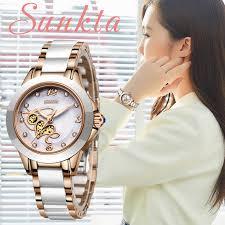 <b>SUNKTA Rose</b> Gold Watch Women Quartz Watches Ladies Top ...