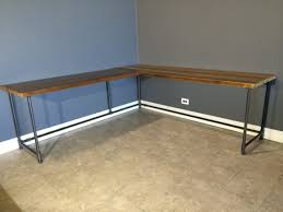 Full Size of Living Room:delightful Diy L Shaped Desk Brown Wooden With  Black Metal Large Size of Living Room:delightful Diy L Shaped Desk Brown  Wooden With ...