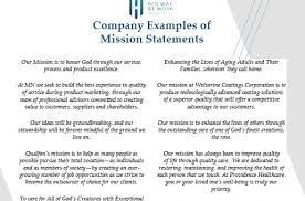 work statements examples mission statement examples his way at work