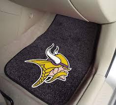 national football league minnesota vikings 2 piece carpeted car mats 18x27