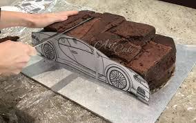 Baking & cake decoration all party supplies invitations & announcements. Bugatti Chiron Car Cake Tutorial Art De Cake