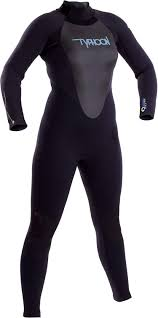 Typhoon Womens Storm 3mm Gbs Wetsuit Black Easy Stretch