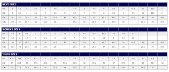 Asics Size Chart Asics Size Chart Sturtevants