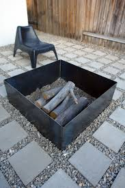 square paver patio with fire pit. Just Another Backyard Fire Pit Square Paver Patio With