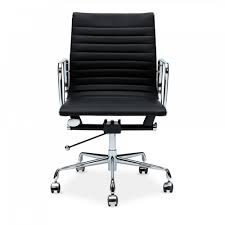 iconic designs style black short back ribbed office chair