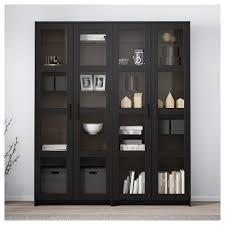 Brimnes Opbergcombinatie Met Glazen Deuren Zwart Ikea
