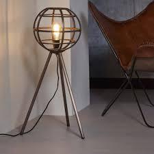 Industriële Vloerlamp De Industriële Vloerlamp Wolf 3poot Antiek Koper