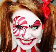 creepy clown makeup face painting