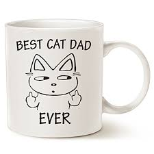 office gifts for dad. Funny Dad Coffee Mug Father\u0027s Day Gifts - Best Cat Ever Office And Home For Dad, Father, Grandpa Porcelain Cup White, 14 Oz By LaTazas D