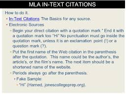 citations in mla format mla format resources sample page and citation examples ppt