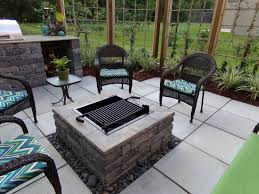 patio ideas with square fire pit. Image Of: Fire Pits Backyard Outdoor For Sale Green Escapes With Landscape Patio Ideas Square Pit R
