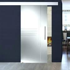 frosted glass barn door single sliding sandblasted clear lines design kit panel