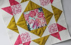 Free Motion Quilting on Block Dove in the Window   Sewcial Bee ... & Free Motion Quilting Custom Block by Block Quilt As You Go Adamdwight.com