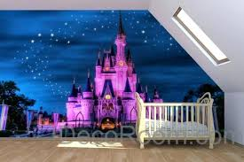 disney castle wall decal and purple pink princess dream castle wallpaper wall paper wall decals wall art print mural disney princess castle giant wall decal  on castle wall art mural with disney castle wall decal and purple pink princess dream castle