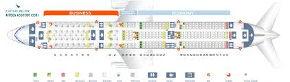 Cathay Pacific Business Class Seating Chart Seat Map Airbus A350 900 Cathay Pacific Best Seats In The Plane