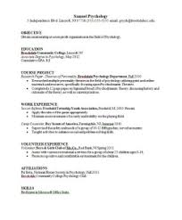 psychology resume examples psychology major resume sample career connoisseur