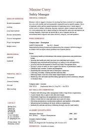 Safety Manager Resume Safety Manager Resume Sample Example Job Description Template