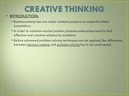 business studies grade ppt video online  3 creative thinking introduction