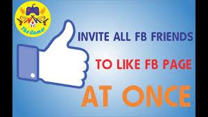 invite all friends to like fb page latest script azeem asghar