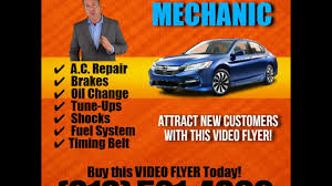 Auto Repair Flyer Sample Of A Video Flyer For The Auto Mechanic Niche