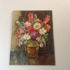 Vintage Marcella Smith Lithograph Print Still life Flowers And Vase | eBay