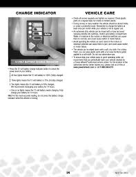 vehicle care charge indicator fisher jeep hurricane n2273 user manual page