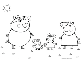 Free Printable Peppa Pig Colouring Pages Pictures To Print Coloring