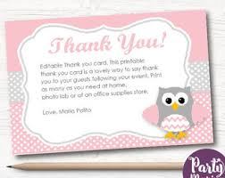 Owl Thank You Cards  EtsyOwl Baby Shower Thank You Cards