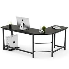 Image Reception Table Amazoncom Tribesigns Modern Lshaped Desk Corner Computer Desk Pc Laptop Study Table Workstation Home Office Wood Metal Black