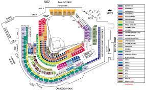 progressive field seating chart rows map