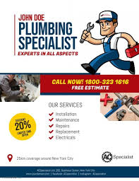 Plumbing Service Flyer Poster Template | Business cartoons, Plumbing,  Handyman business