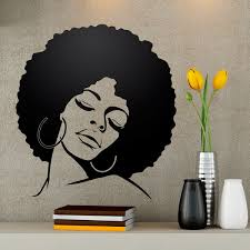 wall stickers afro hairstyle girl
