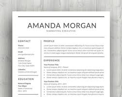 Etsy Resume Template Resume