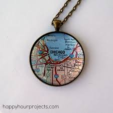 glass map necklace happy hour projects