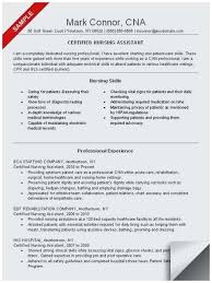 Sample Resume For Experienced Testing Professional Best Cna Resume